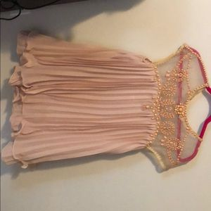 Chicwish nude pink jeweled dress